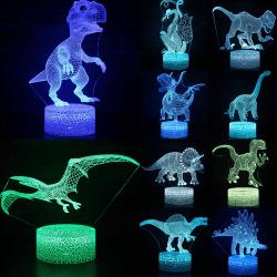 LED Creativity Night Light Dinosaur Series 3D Lighting Kids Gift Raptor