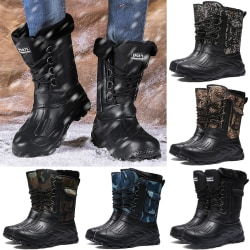Men Camouflage Waterproof Snow Boots Men army green 40