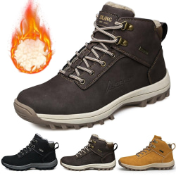 Mens Snow Boots Outdoor Hiking Trainers Warmer Sports Shoes light brown 41