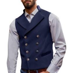 Mäns kavaj med dubbla remsor och väst gentleman Slim Fit Jacket
