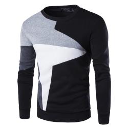Herr Långärmad Sport Fitness Sweatshirt Vintertröja Black M