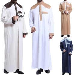 Men Robe Kaftan Plus Size Abaya camel XL