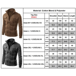 Men's Fashion Winter Autumn Coat black L