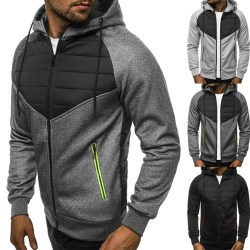 Men's Winter Hoodie Jacket light gray L