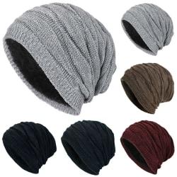 Men Women Winter Warm Knitted Woolly Cap Skateboard Black