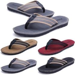 Mens Summer Thong Toe Flip Flops Holiday Red 40