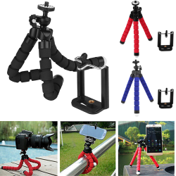 Mobile Phone Holder Octopus Tripod Stand For Phones Ipad Smartph Black