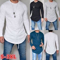 New Men's Long Sleeve Pullover T black M
