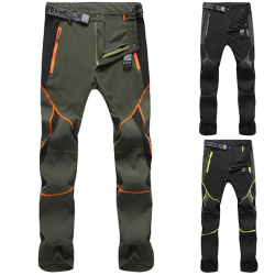 Outdoor Hiking Climbing Trousers Men Full Length black&green 3XL