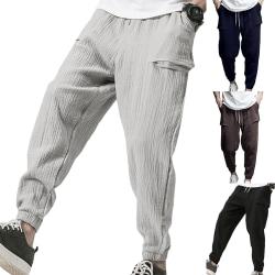 Plus storlek män dubbla rynkor enfärgad