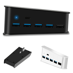 PS5 PS4 5 Port Extend USB Hub Extension Splitter High Speed Black