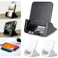 Universal Wireless Mobile Phone Fast Charger Stand Pad Dock Black