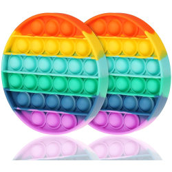Rainbow Fidget Toys Stressboll Sensory Pop it Kids Games Toy Round