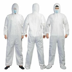 Safety Dustproof Waterproof Disposable Protective Unisex Cloth White