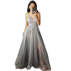 Sexig v-ringad ärmlös axelbandsklänning för eleganta kvinnor
