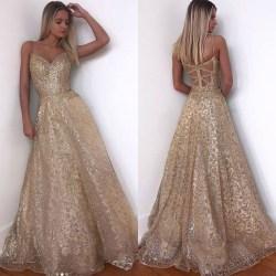 Snygg Deep V Sling Curbside Dress Golden för kvinnor Elegant