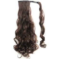 Stylish Natural Wrap On Long Hair Extensions Clip Ponytail Wavy 4#