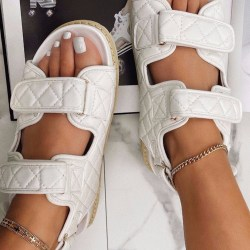 Summer thick-soled velcro women's shoes all-match sandals White 43