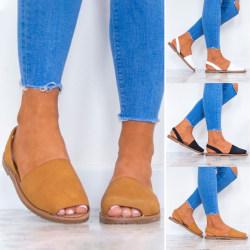 Summer Womens Girls Roman Shoes Sling Back white 9.5