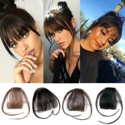 Thin Air Bangs Natural Fringe Fake Hair Extension Hairpieces Black