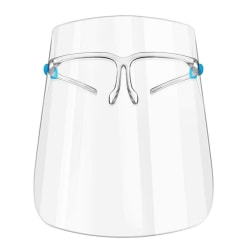 Transparent Acrylic Glasses Ring Face Mouth Nose Protect Cover 1pc