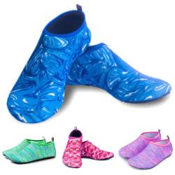 Unisex halkfria sportar snabbtorkande skor andningsbara yogasockor Camouflage blue 42-43