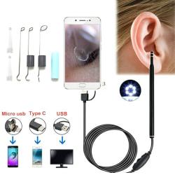 USB Ear Endoscope HD Visual LED Adjustable Protable Spoon Kit