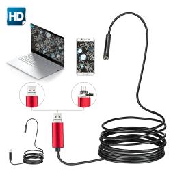 USB Ear Endoscope HD Visual LED Light Adjustable Protable Black