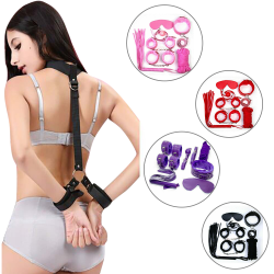 Valentine's Day Gift Adult Strap Seven Piece Set For Couple Pink