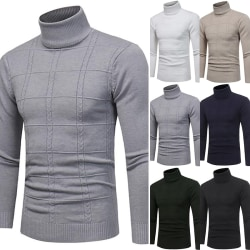Vinter hög hals tröja Mens lång light gray 2XL
