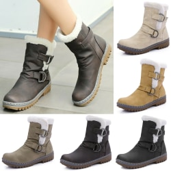 Winter Snow Boots Female Large Size beige 42
