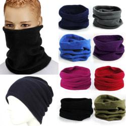 Winter Thermal Fleece Beanie Hat Women Men black