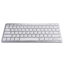 Wireless Bluetooth Keyboard iPad Android Windows Silver grey