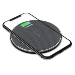 Qi Wireless Charger - Universal - Fast - Silent Charging Black