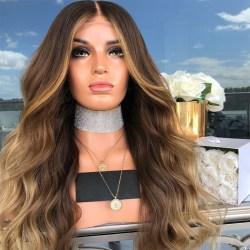 Women Fashion Brown Long Curly Hair Wig As pics