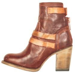 Women Fashion Thick Heel High Heel Martin Boots brown 42