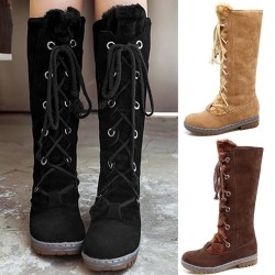 Women Long Boots Sleeves Cross straps black 39