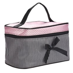 Women Portable Waterproof Brushes Toiletry Bag Black