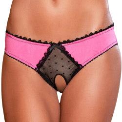 Kvinnors Colorblock Crotch Glamorous Thong Alla hjärtans daggåva