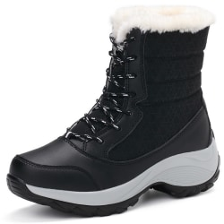 Women's Fashion Snow Boots Winter black 38