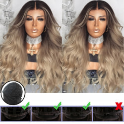 Women's Ladies Ombre Blonde Long Curly As pics
