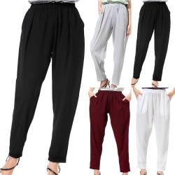 Långa byxor för kvinnor med byxor för mode