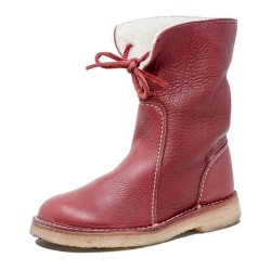 Womens Warm Fleece Comfy Ankle Boots Casual Snow Boots Red 41