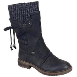 Womens Mid Calf Boots Winter Short Winter black 38
