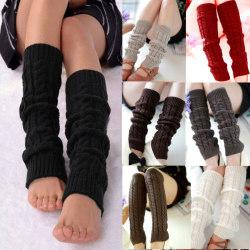 Kvinnor över knä långa strumpor ben kalv strumpbyxor virkade Black