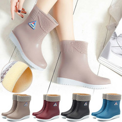 Womens Winter Rain Shoes Flat Chelsea blue 37