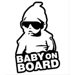 Baby on board (barn i bilen) dekal