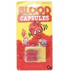Blod kapslar till Halloween eller maskeradfesten