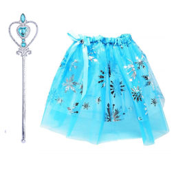 Elsa prinsess kjol + spö 90-130 cl