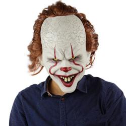 Evil clown mask  DET (IT) till Halloween eller maskerad festen